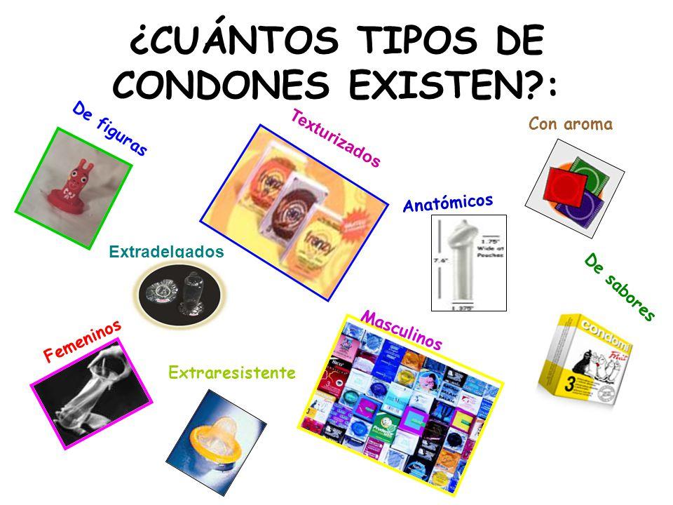¿CUÁNTOS TIPOS DE CONDONES EXISTEN :