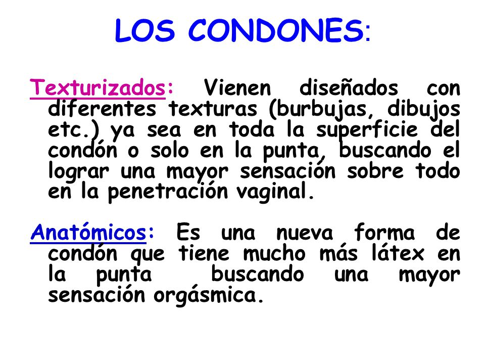 LOS CONDONES:
