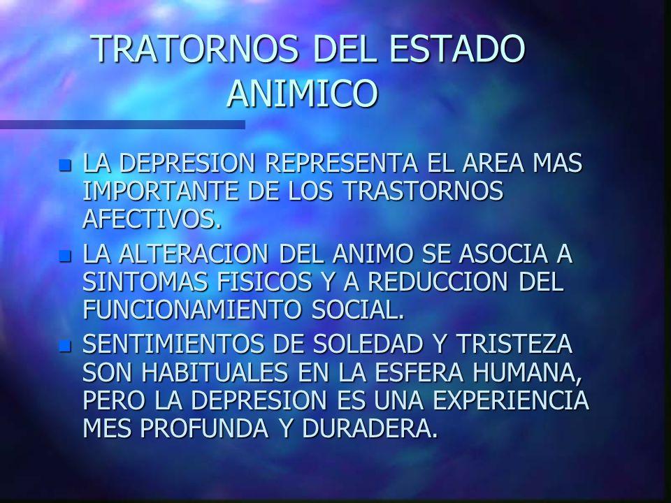 TRATORNOS DEL ESTADO ANIMICO