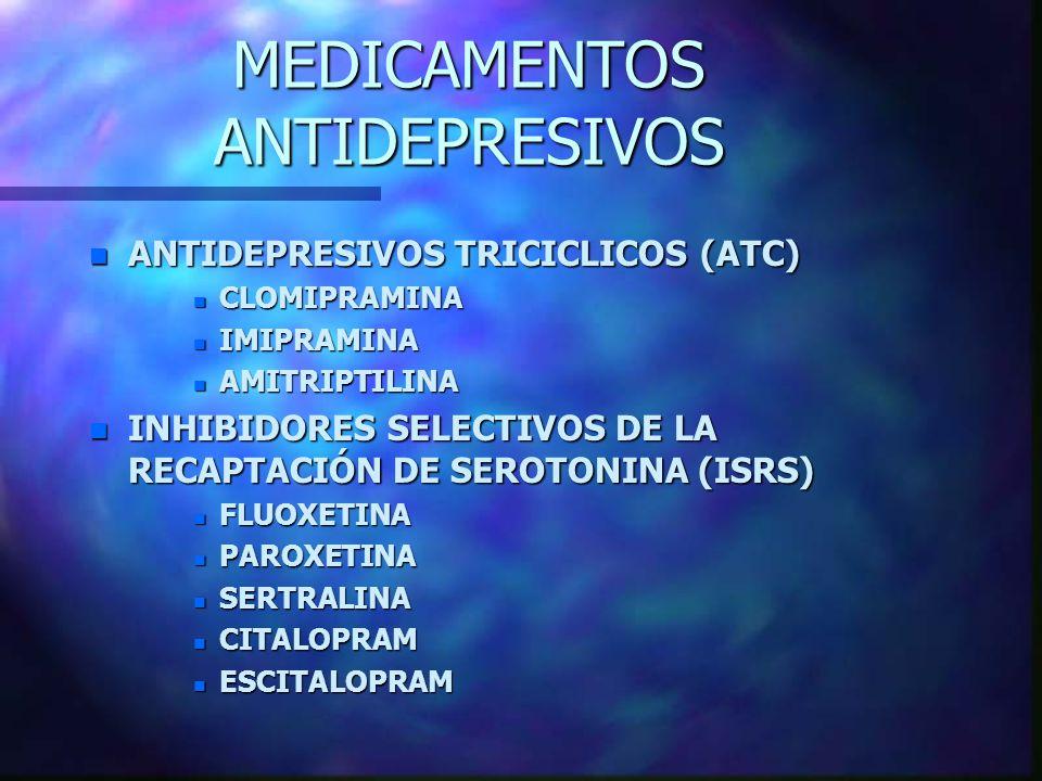 MEDICAMENTOS ANTIDEPRESIVOS