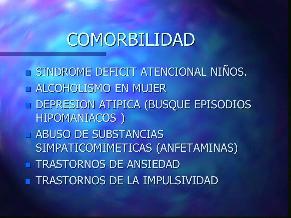 COMORBILIDAD SINDROME DEFICIT ATENCIONAL NIÑOS. ALCOHOLISMO EN MUJER