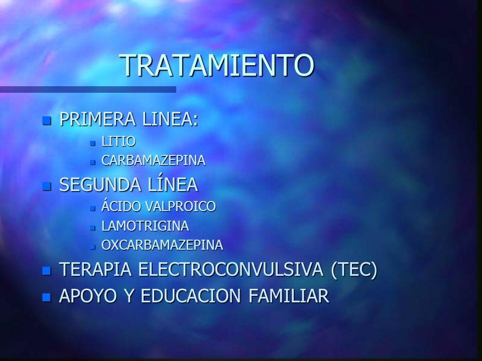 TRATAMIENTO PRIMERA LINEA: SEGUNDA LÍNEA