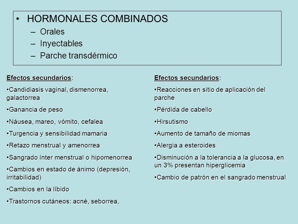 HORMONALES COMBINADOS