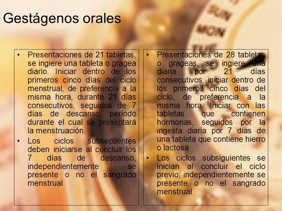 Gestágenos orales