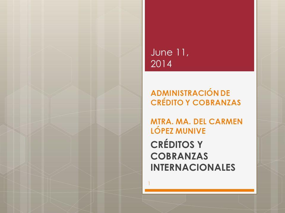 CRÉDITOS Y COBRANZAS INTERNACIONALES