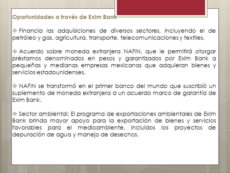 Oportunidades a través de Exim Bank