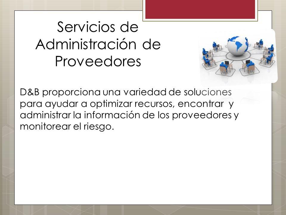 Servicios de Administración de Proveedores