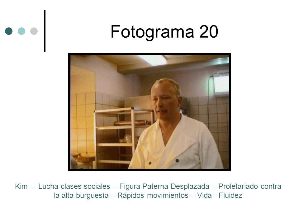 Fotograma 20Kim – Lucha clases sociales – Figura Paterna Desplazada – Proletariado contra la alta burguesía – Rápidos movimientos – Vida - Fluidez.