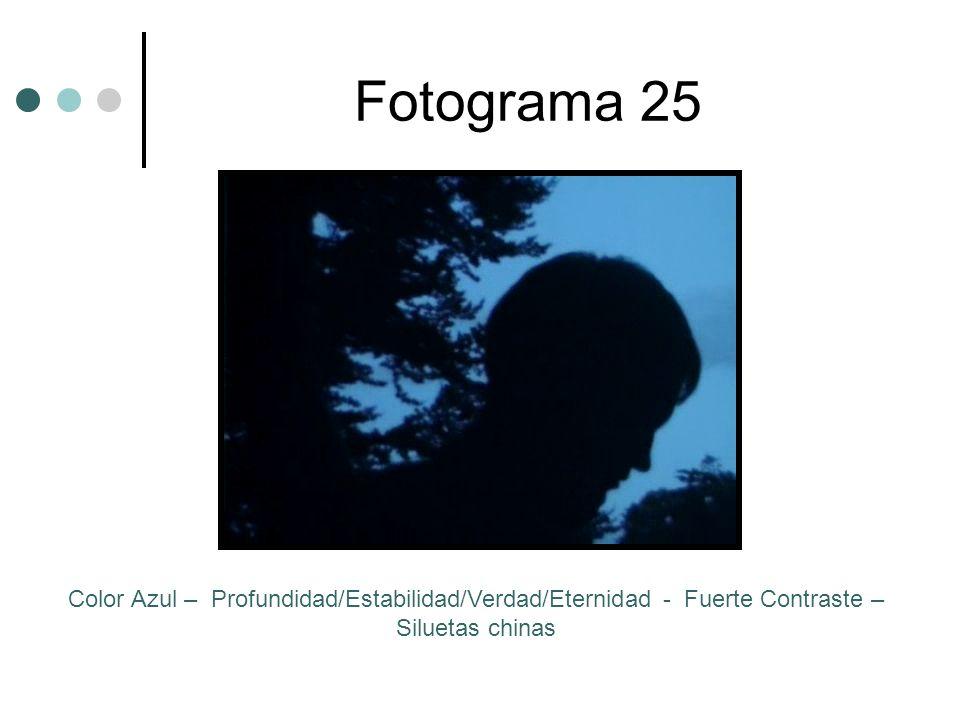 Fotograma 25 Color Azul – Profundidad/Estabilidad/Verdad/Eternidad - Fuerte Contraste – Siluetas chinas.