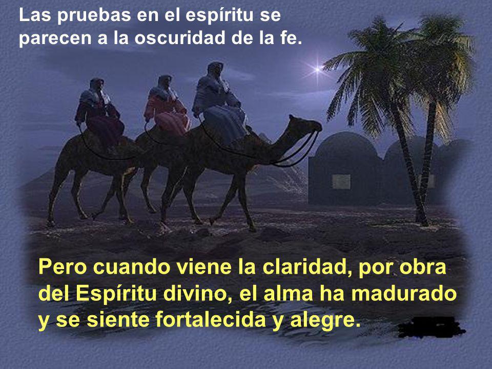 Las pruebas en el espíritu se parecen a la oscuridad de la fe.