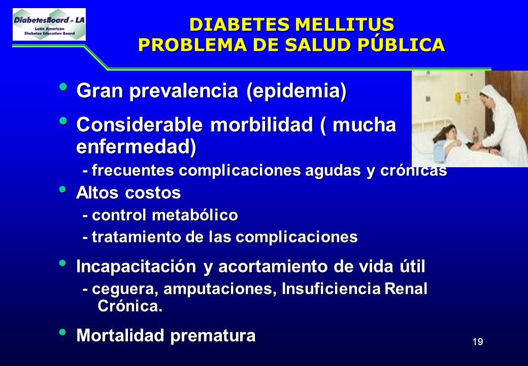 DIABETES MELLITUS PROBLEMA DE SALUD PÚBLICA