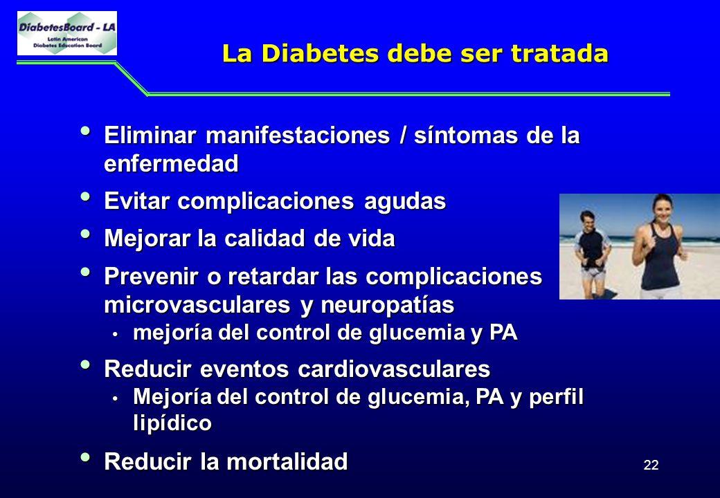 La Diabetes debe ser tratada