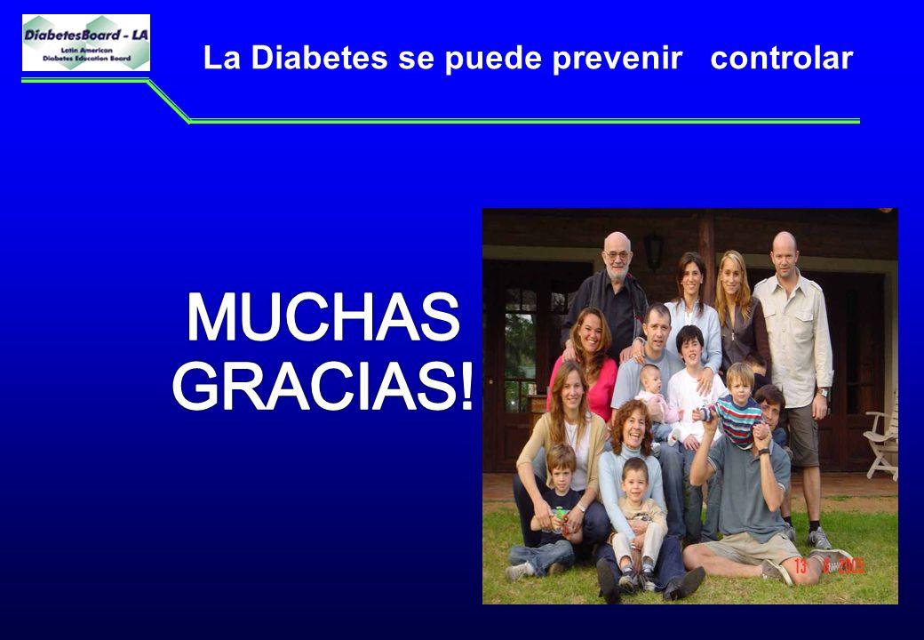 La Diabetes se puede prevenir controlar
