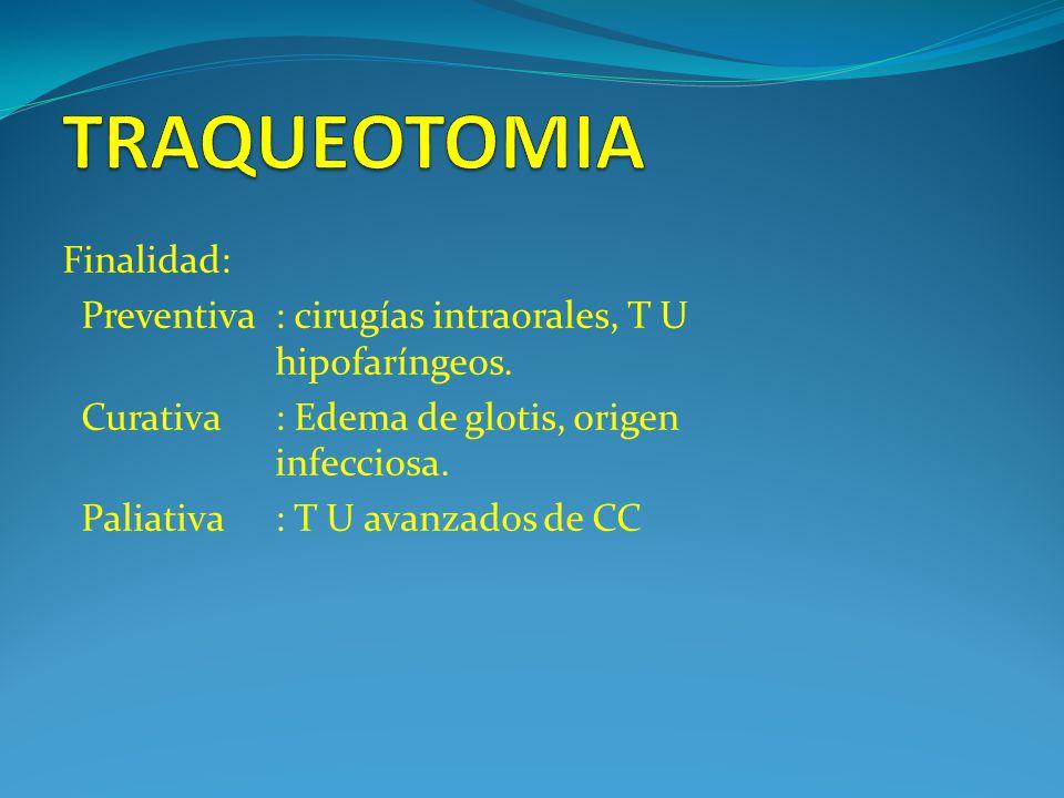 TRAQUEOTOMIA Finalidad: