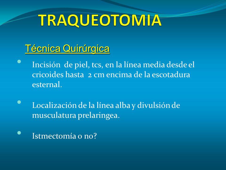 TRAQUEOTOMIA Técnica Quirúrgica
