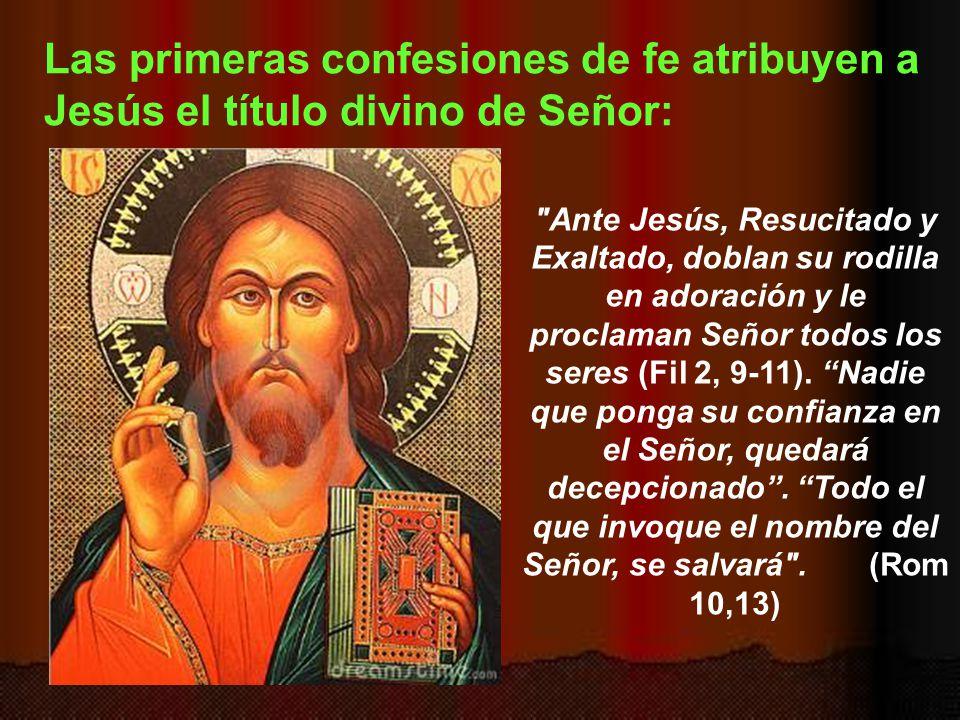 Las primeras confesiones de fe atribuyen a Jesús el título divino de Señor: