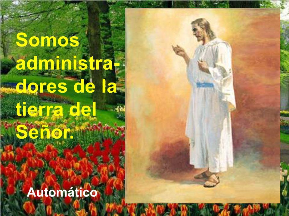 Somos administra-dores de la tierra del Señor.