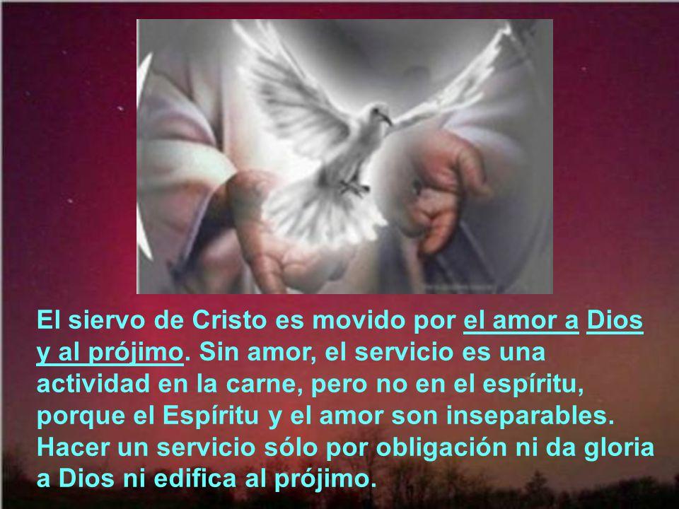 El siervo de Cristo es movido por el amor a Dios y al prójimo