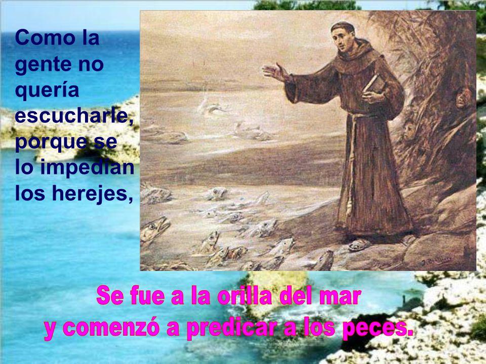 Se fue a la orilla del mar y comenzó a predicar a los peces.