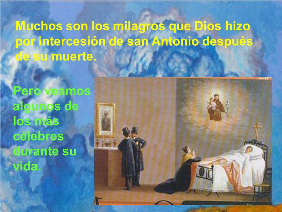 Muchos son los milagros que Dios hizo por intercesión de san Antonio después de su muerte.