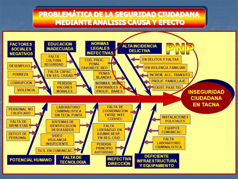 PNP PROBLEMÁTICA DE LA SEGURIDAD CIUDADANA