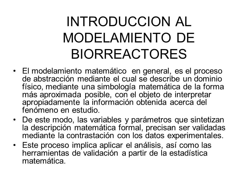 INTRODUCCION AL MODELAMIENTO DE BIORREACTORES