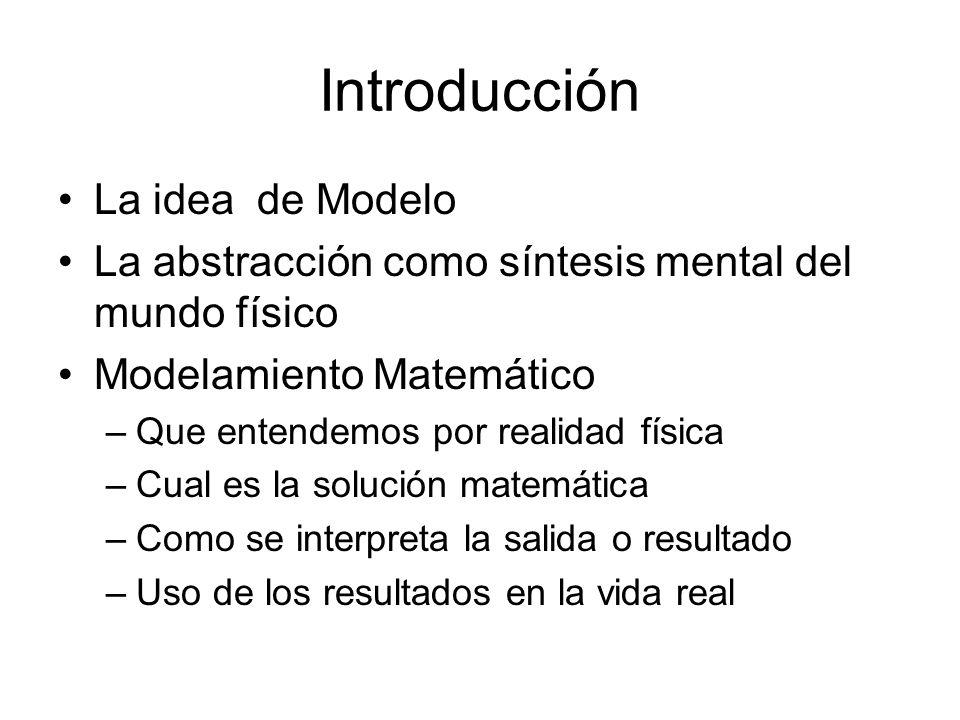 Introducción La idea de Modelo