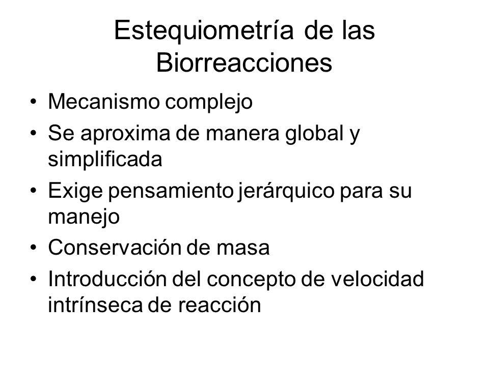 Estequiometría de las Biorreacciones