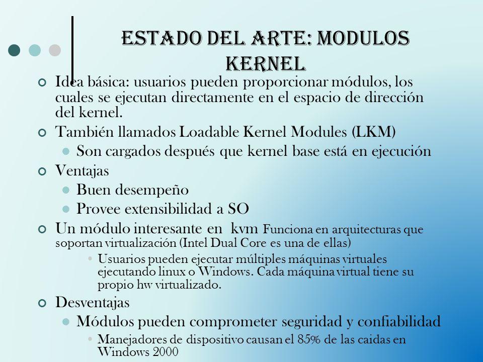 Estado del arte: Modulos kernel