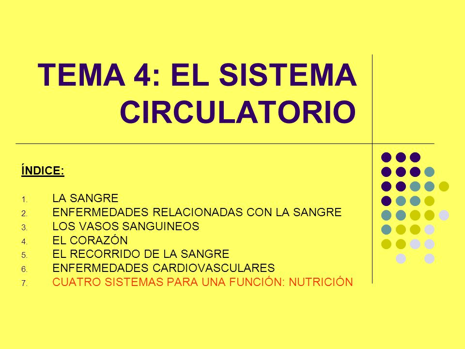 TEMA 4: EL SISTEMA CIRCULATORIO
