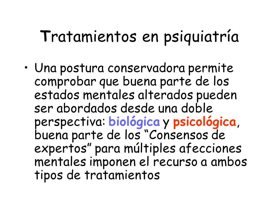 Tratamientos en psiquiatría