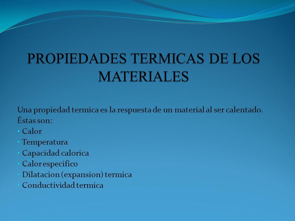 PROPIEDADES TERMICAS DE LOS MATERIALES