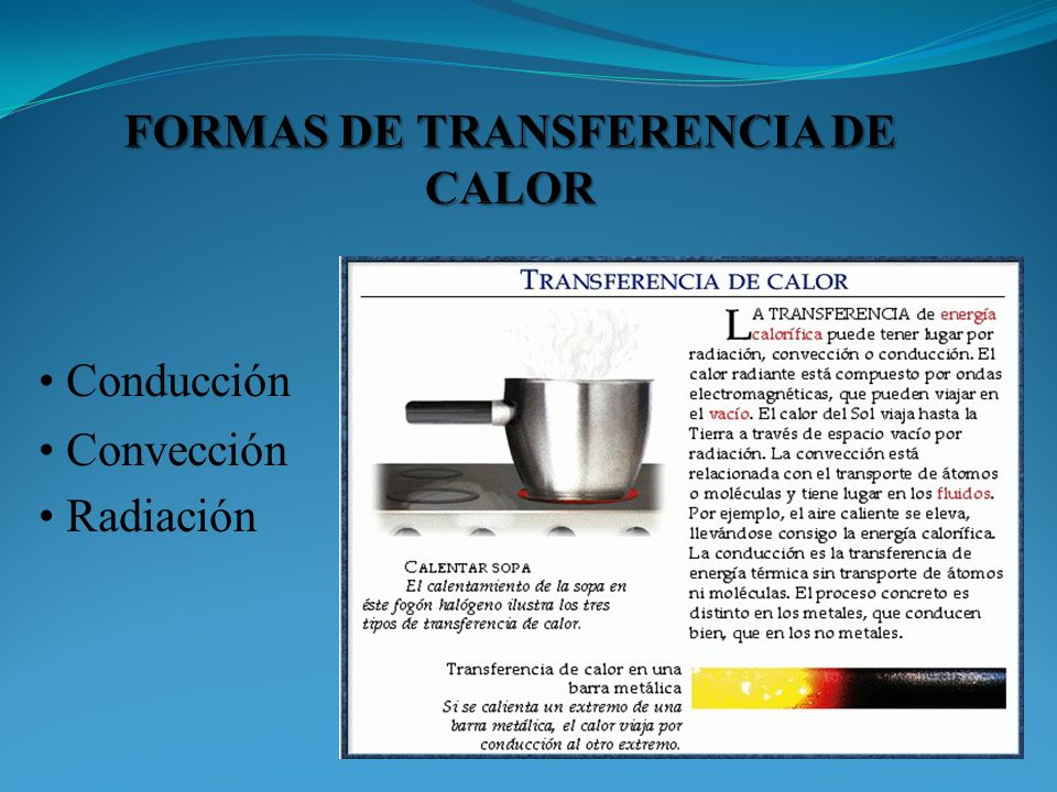 FORMAS DE TRANSFERENCIA DE CALOR