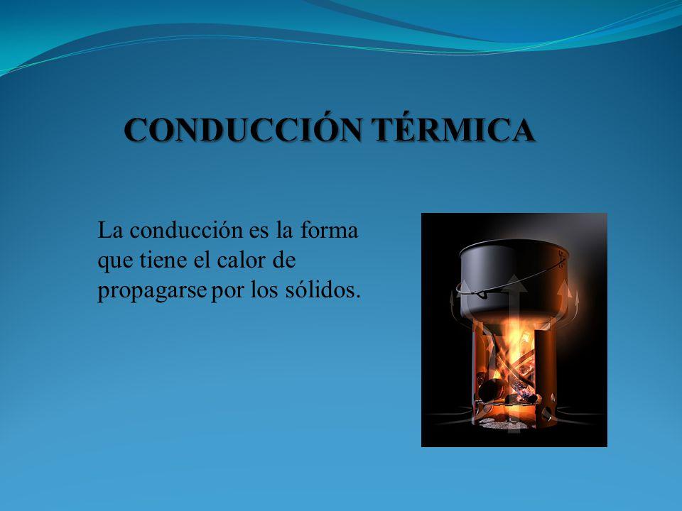 CONDUCCIÓN TÉRMICA La conducción es la forma que tiene el calor de