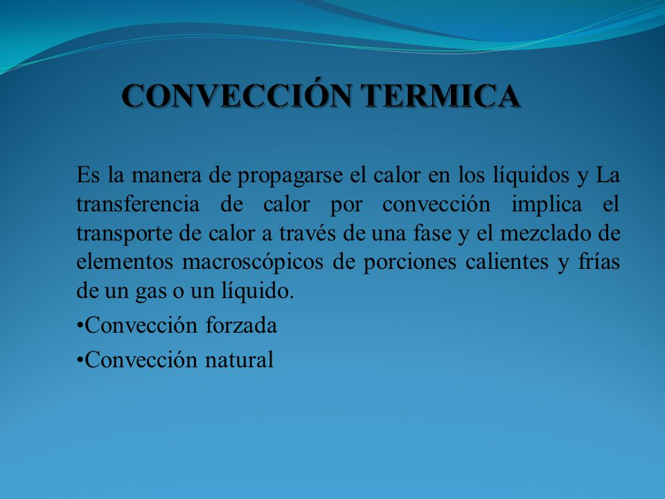 CONVECCIÓN TERMICA