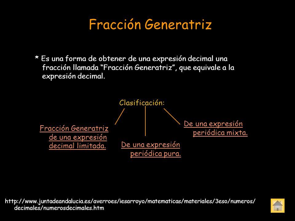Fracción Generatriz