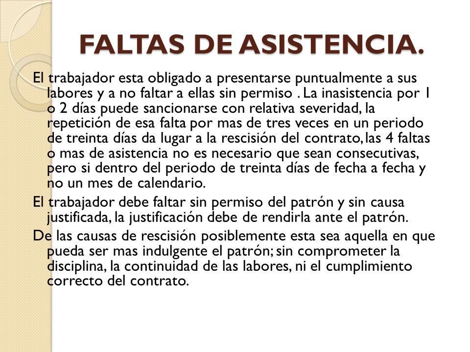 FALTAS DE ASISTENCIA.