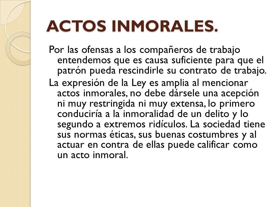 ACTOS INMORALES.