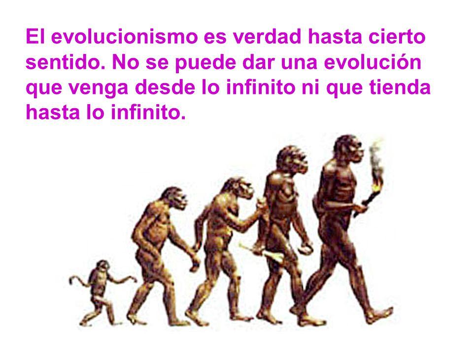 El evolucionismo es verdad hasta cierto sentido