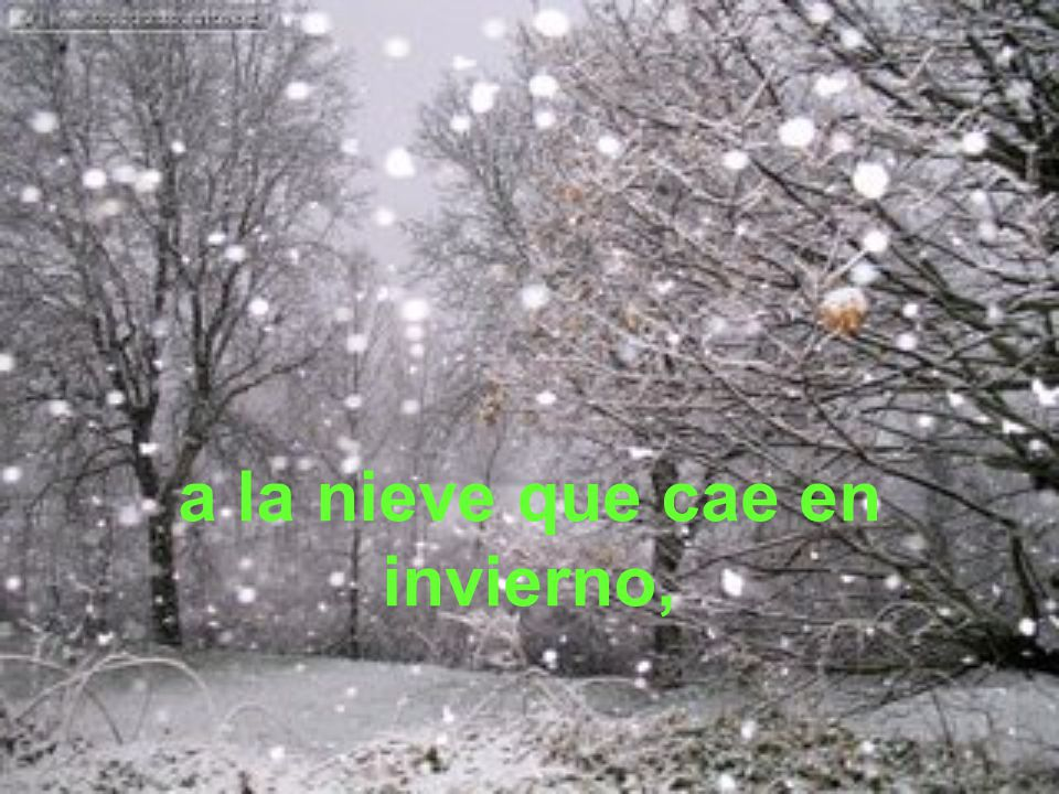 a la nieve que cae en invierno,