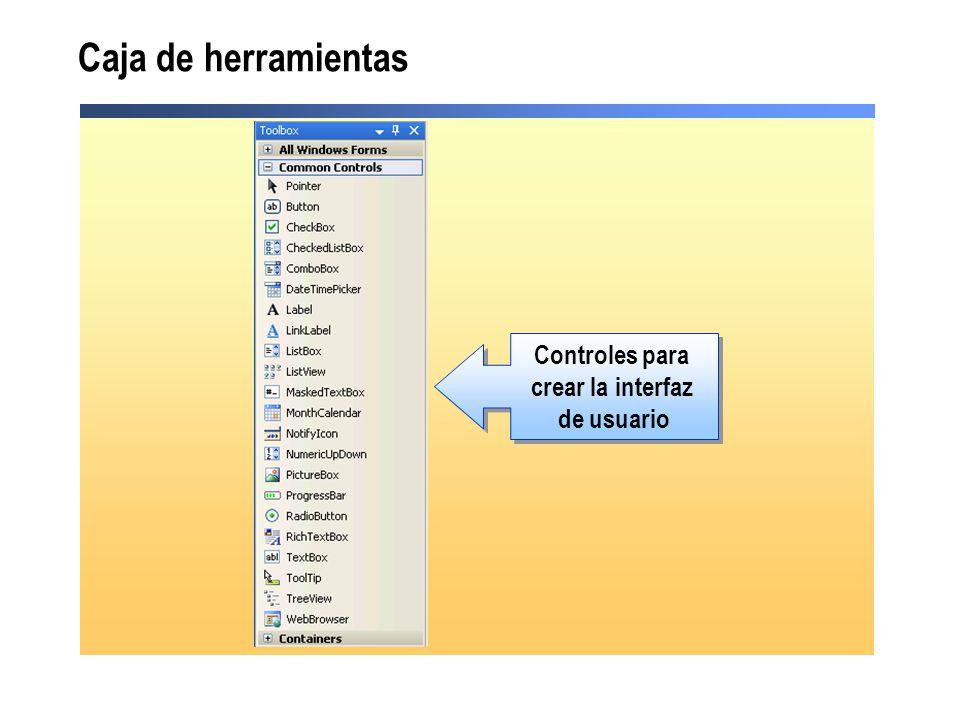 crear la interfaz de usuario