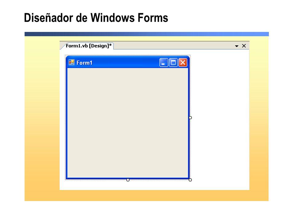 Diseñador de Windows Forms