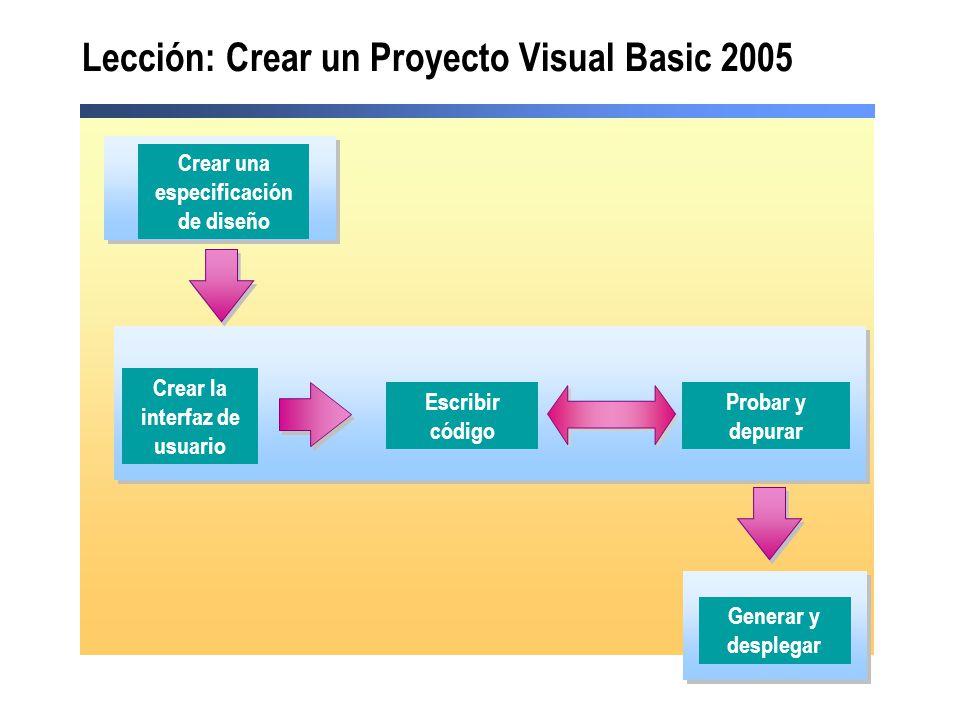 Lección: Crear un Proyecto Visual Basic 2005