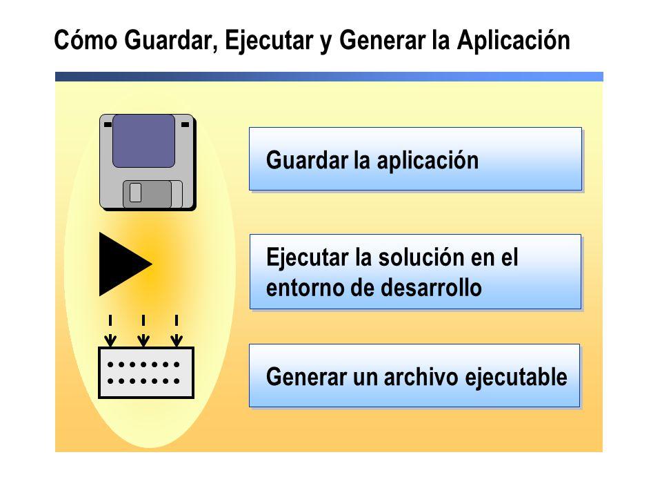 Cómo Guardar, Ejecutar y Generar la Aplicación