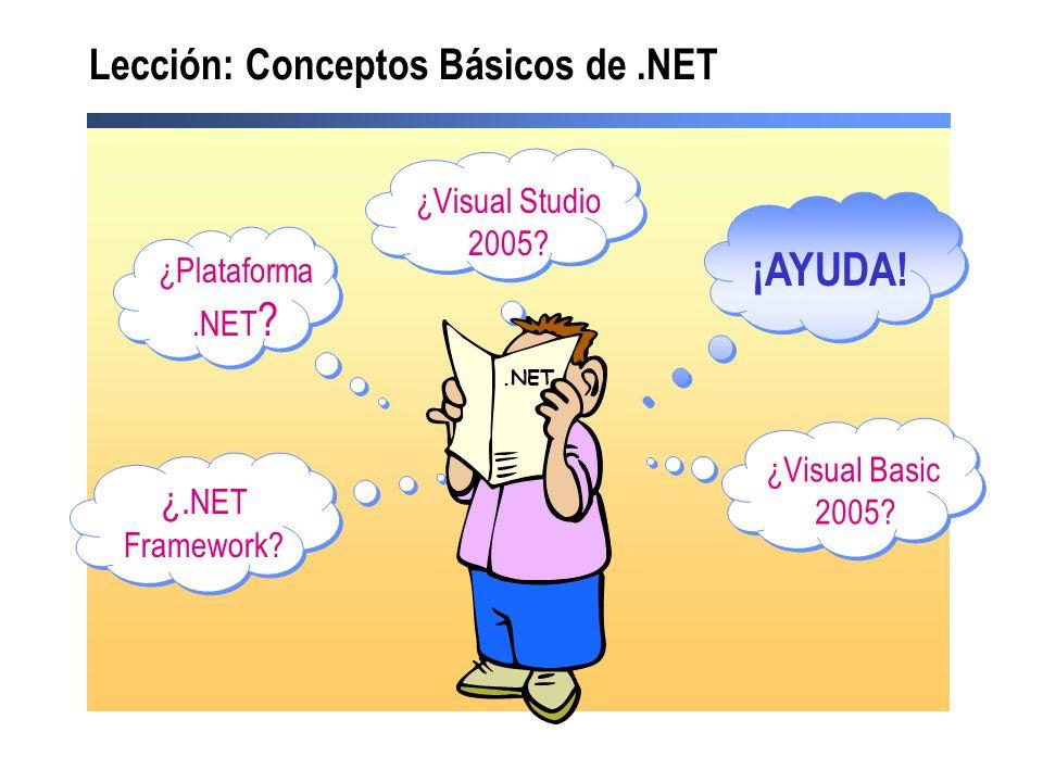 Lección: Conceptos Básicos de .NET