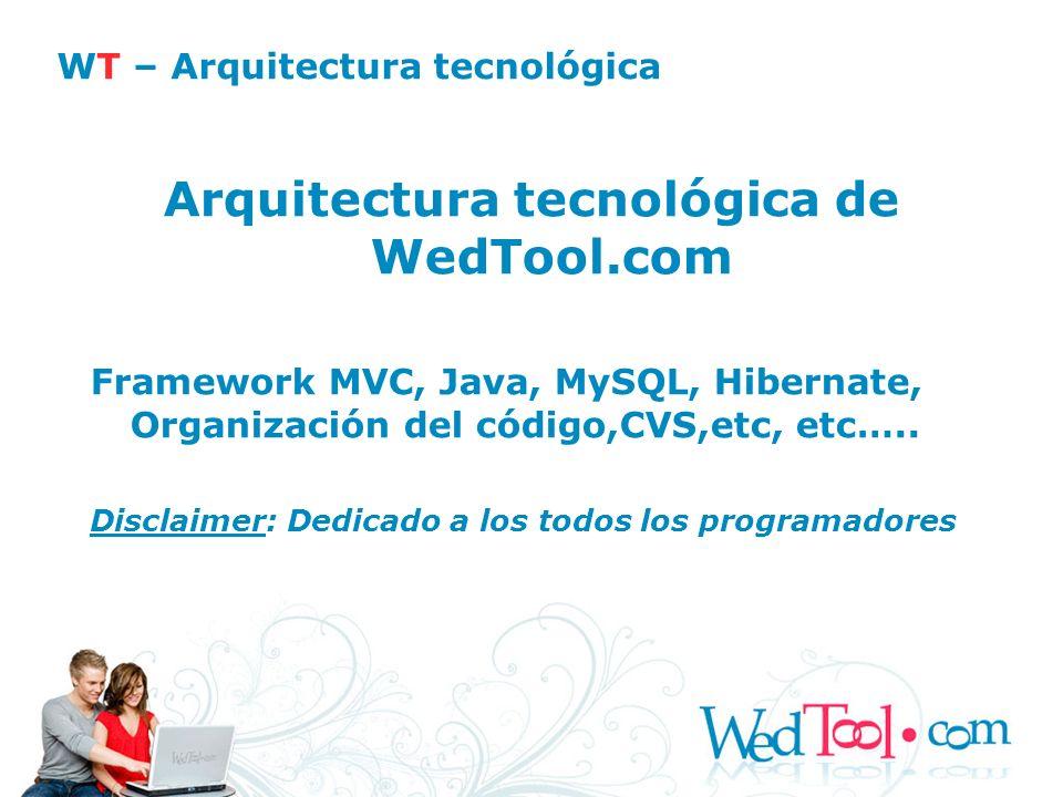 WT – Arquitectura tecnológica