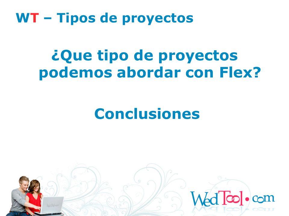 ¿Que tipo de proyectos podemos abordar con Flex
