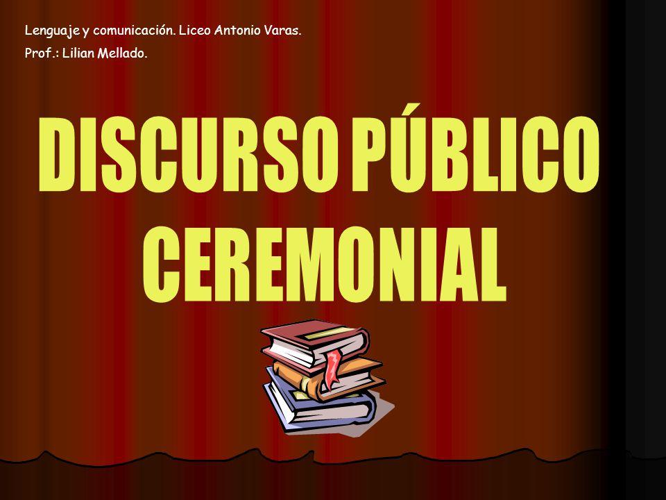 DISCURSO PÚBLICO CEREMONIAL