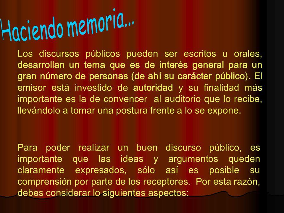Haciendo memoria...