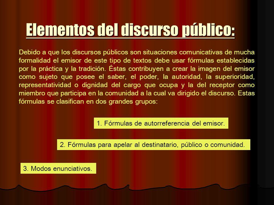 Elementos del discurso público: